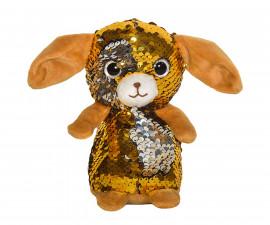 Плюшена играчка за деца - Кученце с пайети, 14см 2070-7