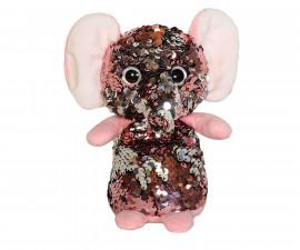 Плюшена играчка за деца - Слонче с пайети, 14см 2070-8