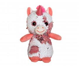 Плюшена играчка за деца - Еднорог с пайети, 14см 2070-10