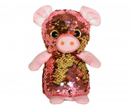 Плюшена играчка за деца - Прасенце с пайети, 14см 2070-14