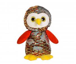 Плюшена играчка за деца - Бухал с пайети, 26см 2071-2