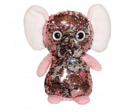 Плюшена играчка за деца - Слон с пайети, 26см 2071-8