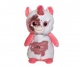 Плюшена играчка за деца - Еднорог с пайети, 26см 2071-10