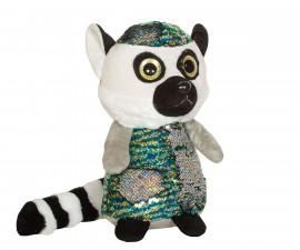 Плюшена играчка за деца - Лемур с пайети, 26см 2071-11