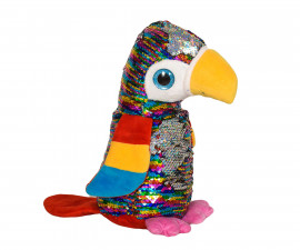 Плюшена играчка за деца - Папагал с пайети, 26см 2071-12