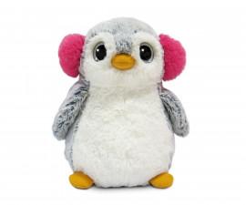Плюшена играчка за деца Аврора - Пингвин с ушанки, 23см 121140N