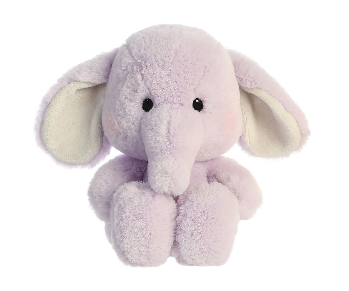 Детска играчка плюшен слон, лилав
