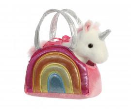 Детска играчка плюшен еднорог в чантичка