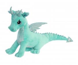 Плюшена играчка за деца Аврора - Дракон, цвят мента 170619B