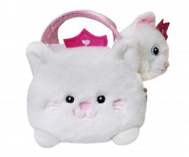 Плюшена играчка за деца Аврора - Коте в чантичка 200125G