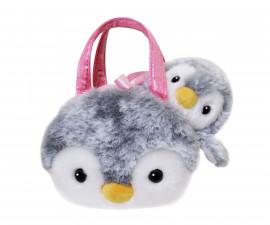 Плюшена играчка за деца Аврора - Пингвин в чантичка 201107A