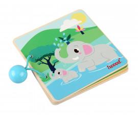 Детска книжка от дърво, животни от гората