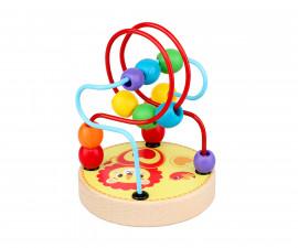 Детска играчка лабиринт лъвче от дъво