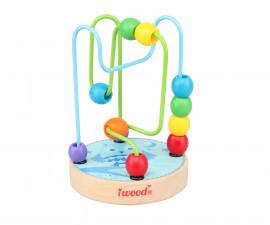 Детска играчка лабиринт бухалче от дърво