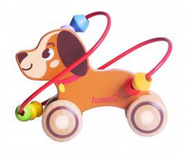 Детска играчка кученце с лабиринт от дърво
