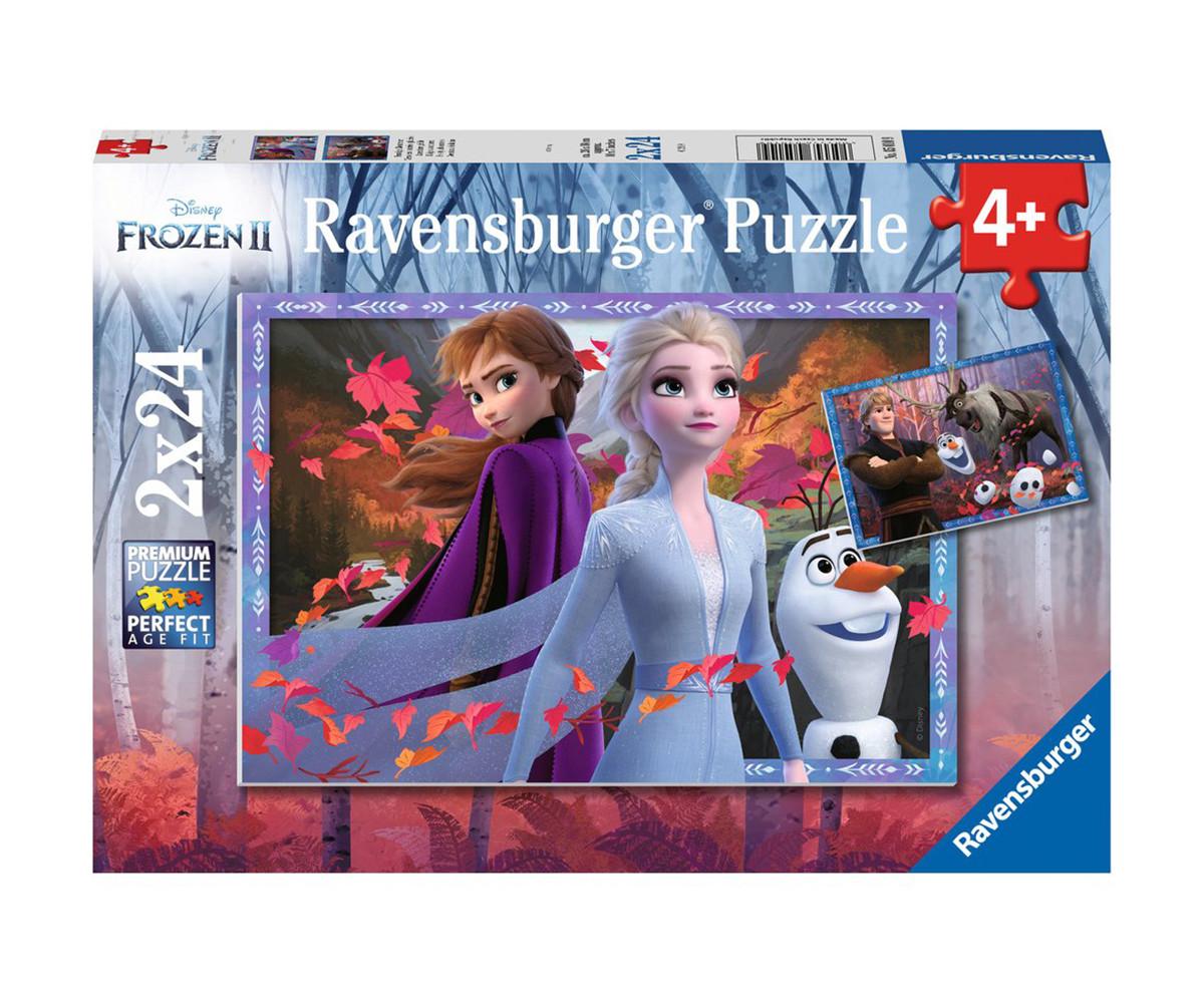 Детски пъзел Ravensburger 2х24 ел. - Замръзналото кралство 2 - Ледено приключение
