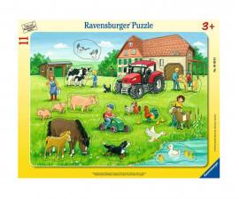 Детски пъзел Ravensburger 11 ел. - Лято във фермата