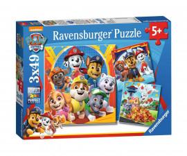 Ravensburger 05048 - Детски пъзел 3х49 ел. - Пес Патрул