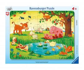 Детски пъзел Ravensburger 42 ел. - Приятели на животните