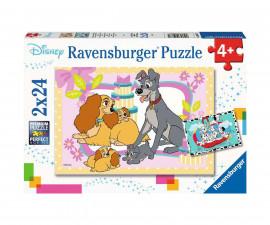 Ravensburger 05087 - Детски пъзел 2х24 ел. - Любимите кученца на Дисни