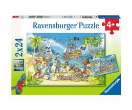 Ravensburger 05089 - Детски пъзел 2х24 ел. - Остров на приключенията