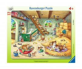 Ravensburger 05092 - детски пъзел 12 ел. - Животни от фермата