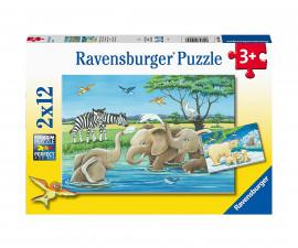 Ravensburger 05095 - Детски пъзел 2х12 ел. - Бебета животни