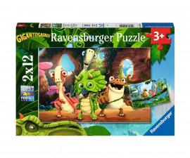 Ravensburger 05125 - Детски пъзел 2х12 ел. - Бандата на динозавърчетата