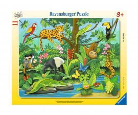Ravensburger 05140 - детски пъзел 11 ел. - Тропически животни