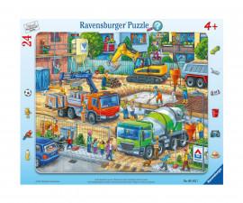 Ravensburger 05142 - Детски пъзел 24 ел. - Строителна площадка