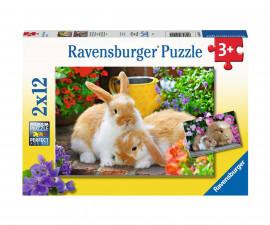 Ravensburger 05144 - Детски пъзел 2х12 ел. - Морски свинчета и зайчета