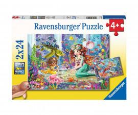 Ravensburger 05147 - Детски пъзел 2х24 ел. - Вълшебна русалка