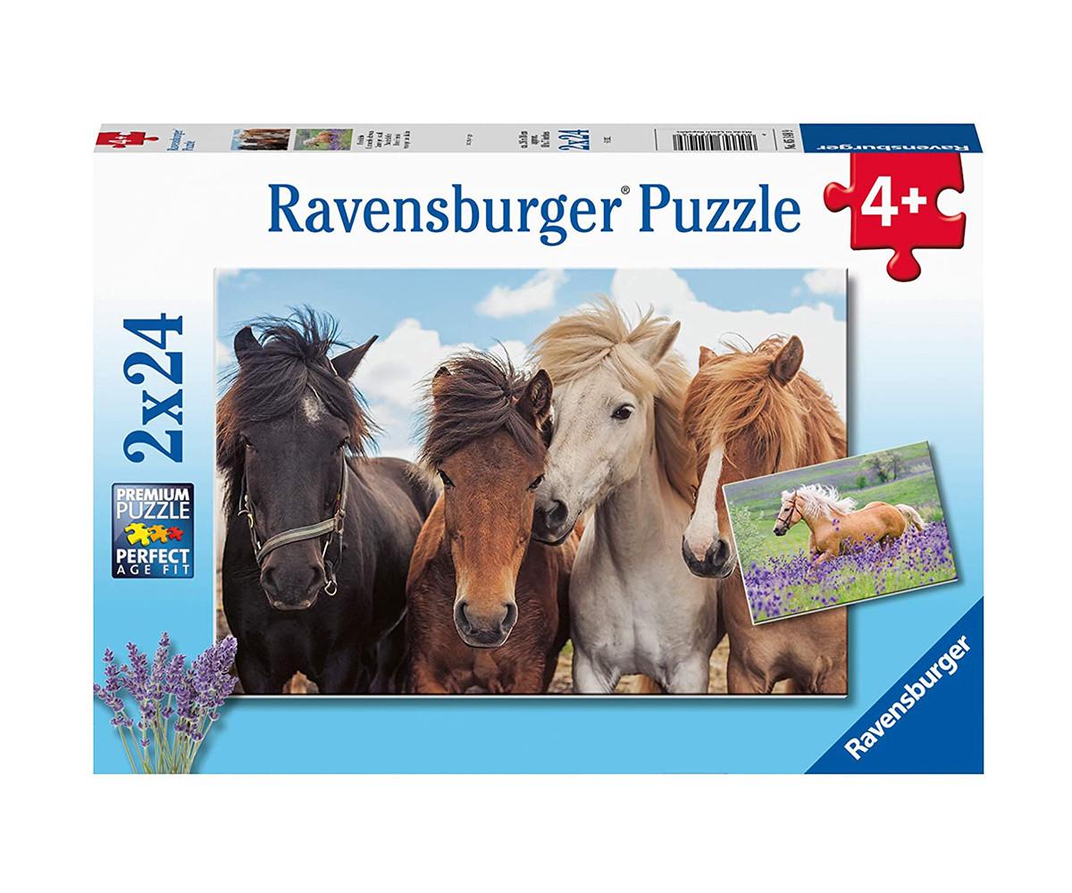 Ravensburger 05148 - Детски пъзел 2х24 ел. - Коне