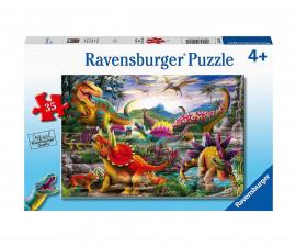 Ravensburger 05160 - Детски пъзел 35 ел. - Терорът на Т-Рекс