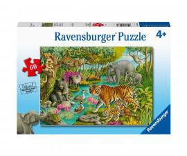 Ravensburger 05163 - Детски пъзел 60 ел. - Животните на Индия