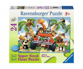 Ravensburger 054101 - Детски пъзел 24 ел. - На 4 колела