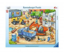Ravensburger 06120 - Детски пъзел 40 ел. - Големи строителни машини