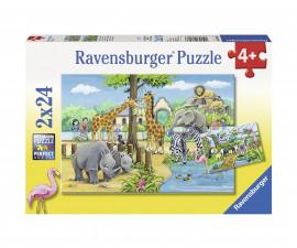 Ravensburger 07806 - Детски пъзел 2х24 ел. - Добре дошли в зоопарка