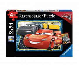 Ravensburger 07808 - Пъзел за деца 2x24 ел. - Колите 3