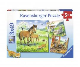 Ravensburger 08029 - Детски пъзел 3х49 ел. - Чудно време