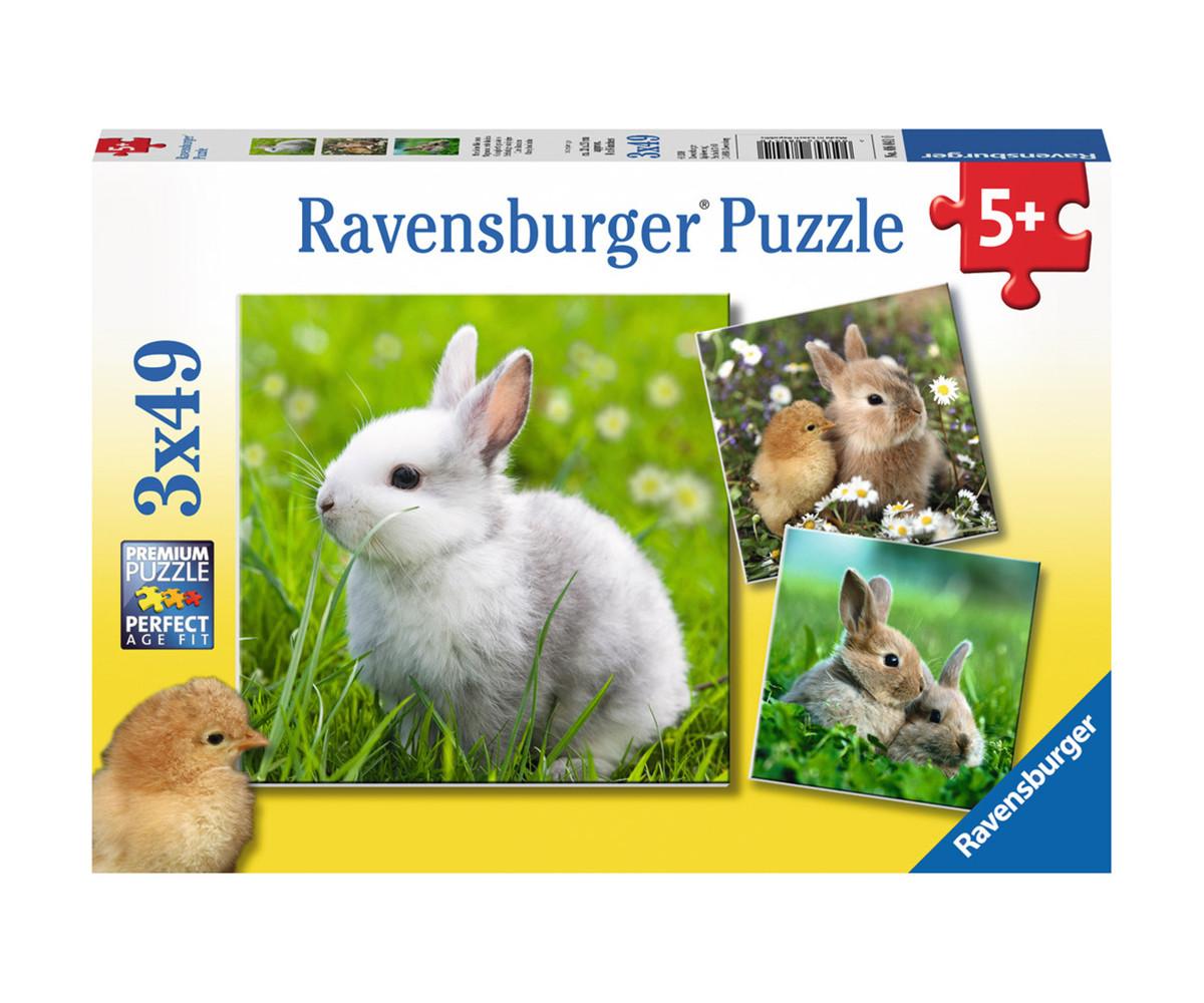 Детски пъзел Ravensburger 3х49 ел. - Зайчета