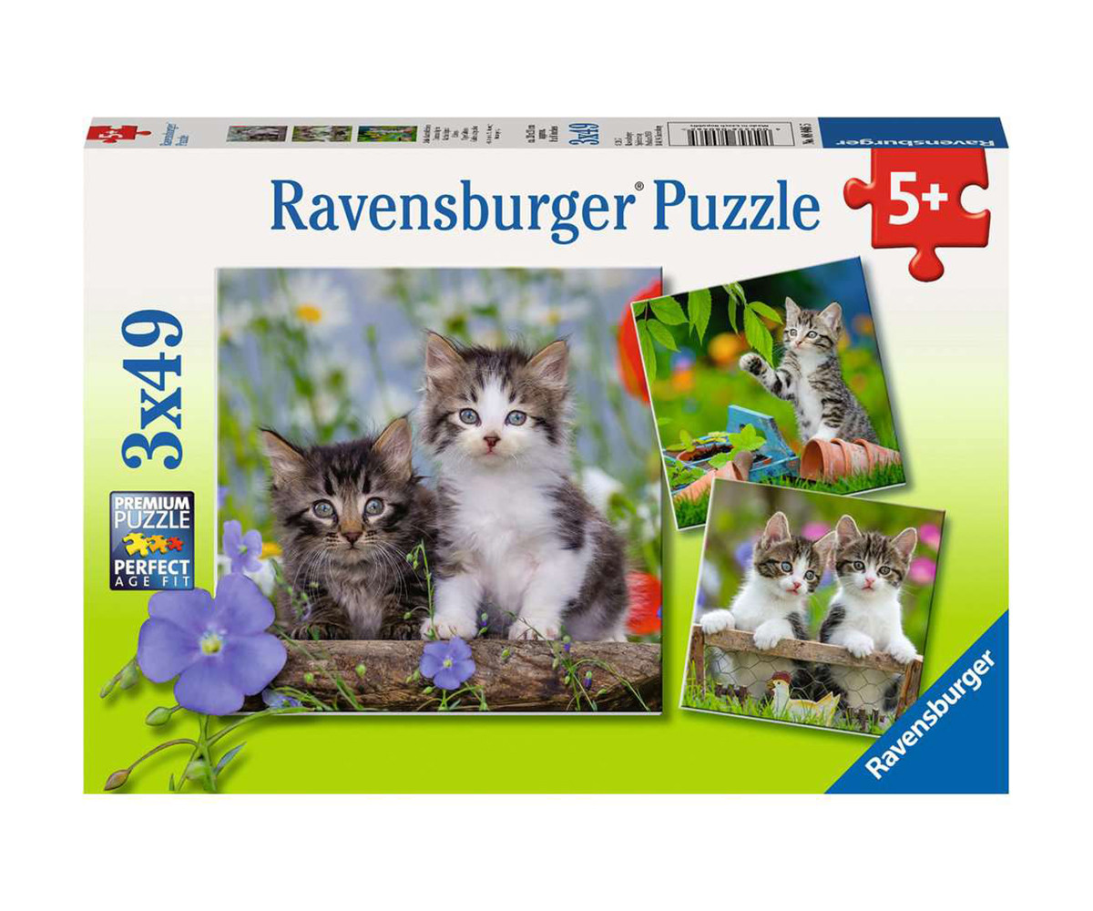 Детски пъзел Ravensburger 3х49 ел. - Котета