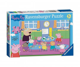 Ravensburger 08627 - детски пъзел 35 ел. - Peppa Pig, Пепа на училище