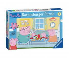 Ravensburger 08628 - детски пъзел 35 ел. - Peppa Pig, Семейно време