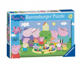 Ravensburger 08632 - Детски пъзел 35 ел. - Peppa Pig, Забавление на слънце
