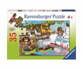 Ravensburger 08778 - Детски пъзел 35 ел. - Зоопарк