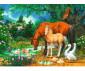 Пъзел за деца Ravensburger 100 ел. XXL - Понита на езерото thumb 2