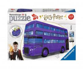 3D детски пъзел Ravensburger 216 ел. - Автобусът на Хари Потър