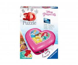 Ravensburger 11234 - 3D детски пъзел Кутия за бижута сърце - Дисни принцеси