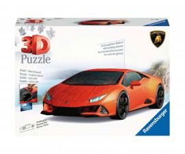 3D пъзел за деца Ravensburger 108 ел. - Lamborghini Huracan EVO